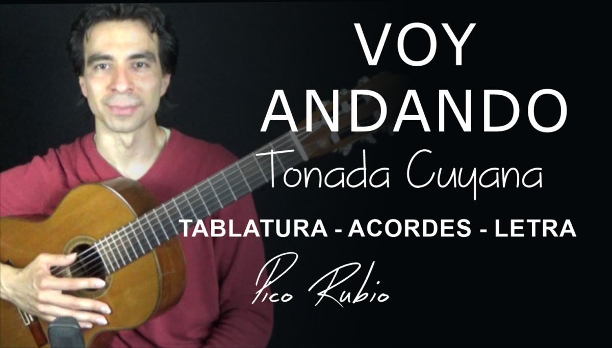 Voy Andando Tonada Cuyana en Guitarra