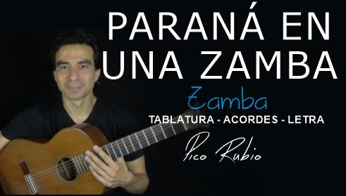 El Paraná en Una Zamba en Guitarra INTRO ACORDES LETRAS